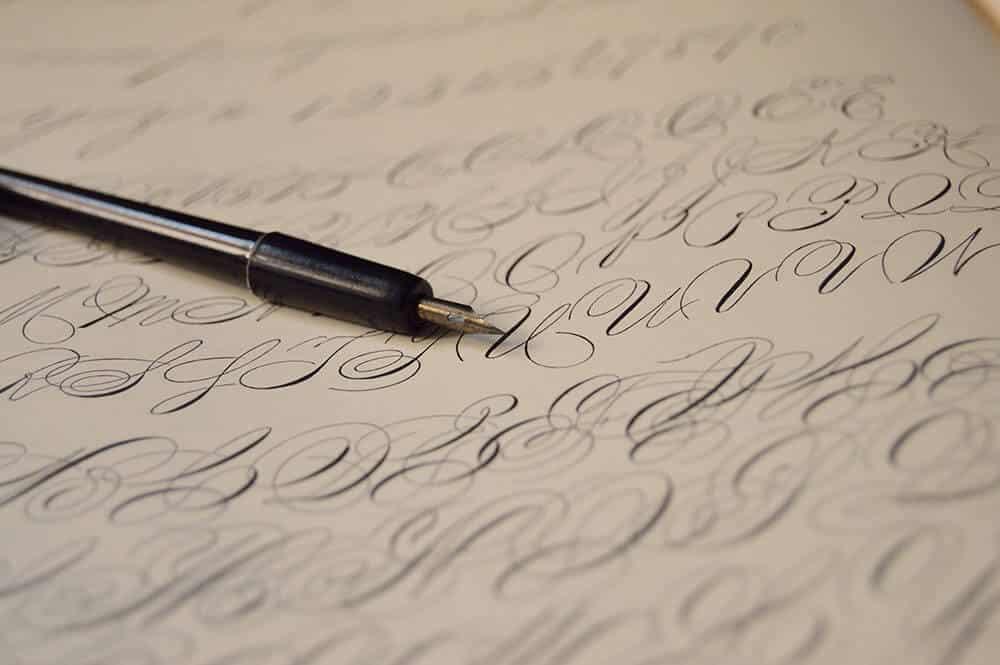 artwork with a fountain pen
