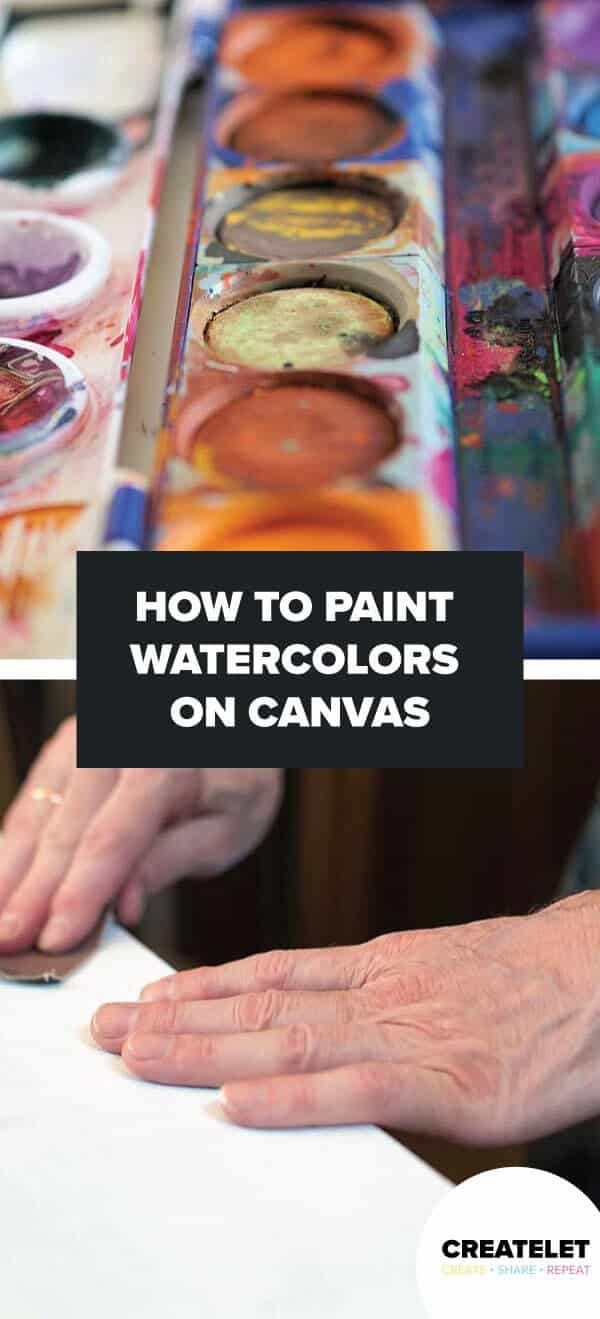 How To Paint Watercolors On Canvas