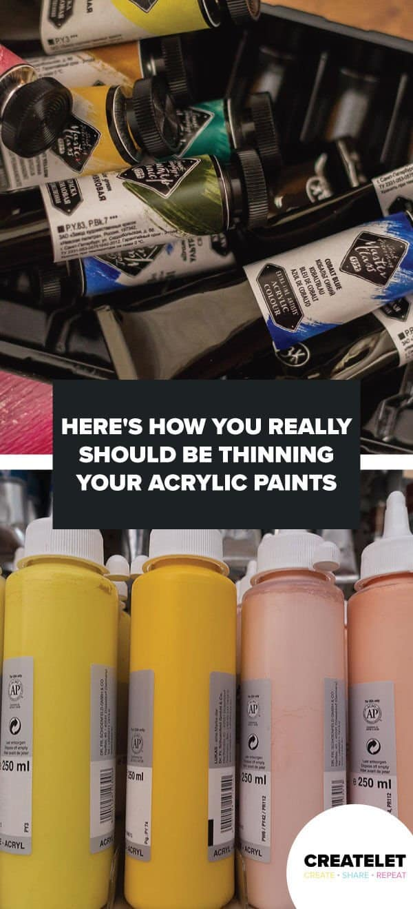 how to thin acrylic paints - pinterest