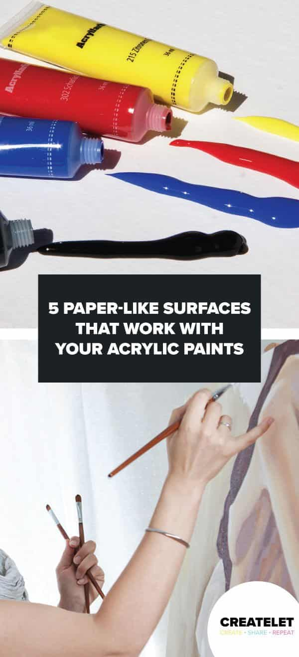 paper like surfaces for acrylic paints - pinterest