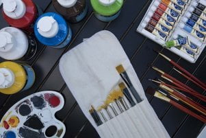 acrylic painting materials