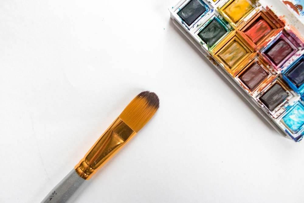 best watercolor brushes - wash mop hake brush