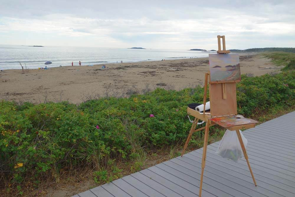 french easel for painting plein air