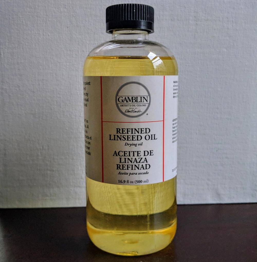linseed oil as an oil painting supply