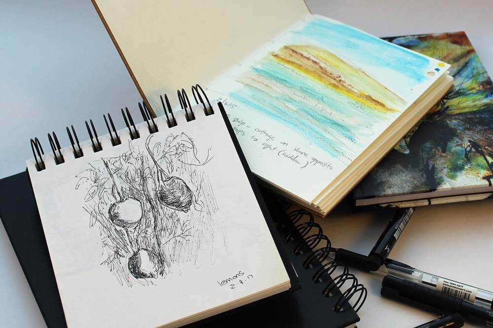 sketching materials for watercolors