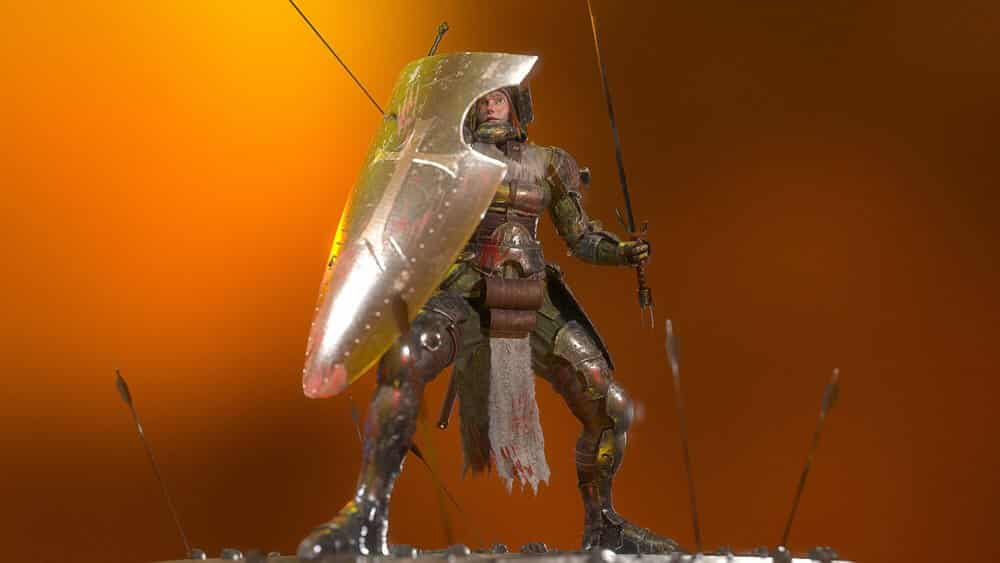 Knight In Battle By - Dragos Licar