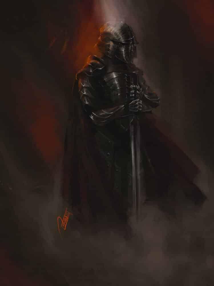 The Black Knight By - John Burns