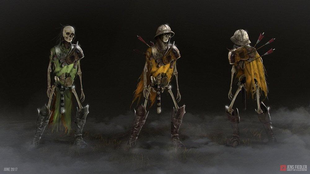 Skeleton Knights By - Jens Fiedler