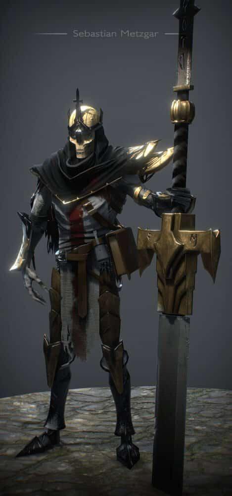 Undead Crusader By - Sebastian Metzgar