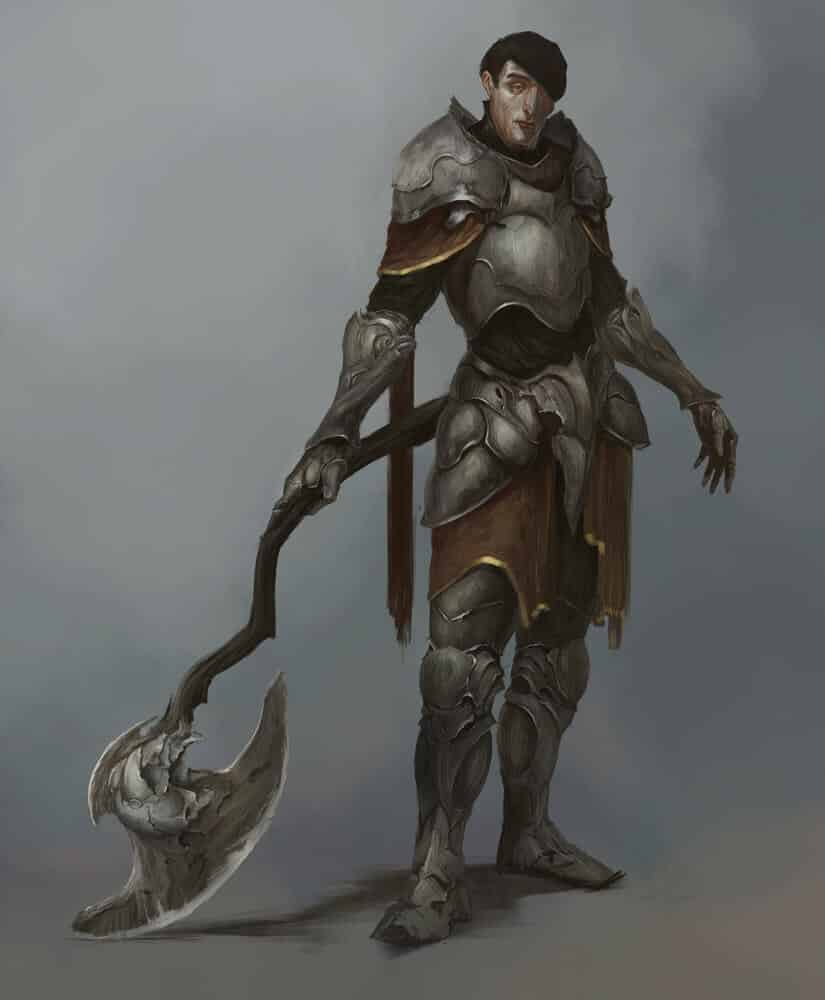 Knight With Axe By - Anton N
