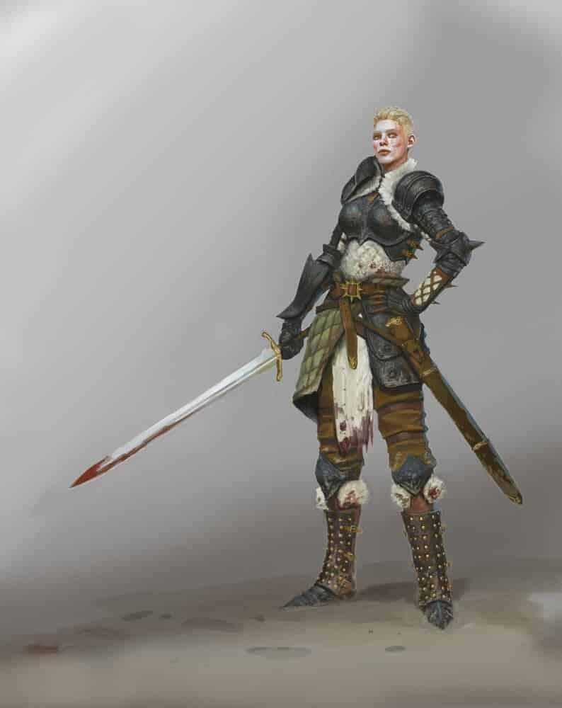 Female Knight By - hogoul kim