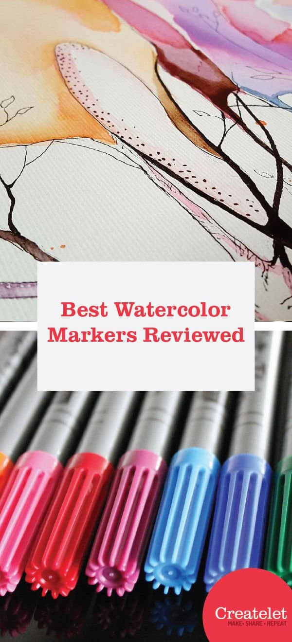 best watercolor markers reviewed - pinterest