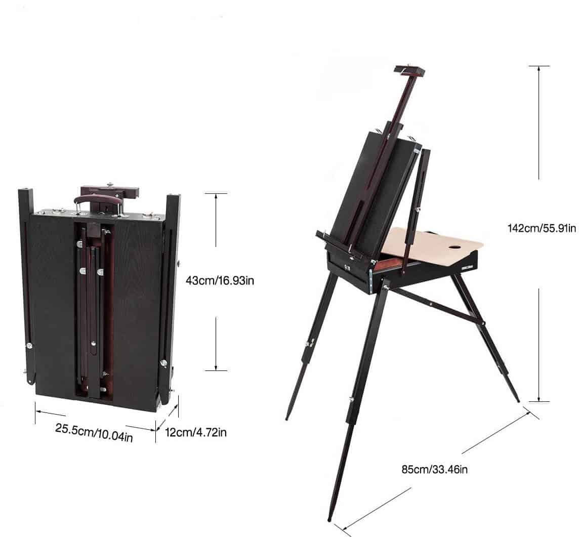 mont marte dimensions - best plein air easel