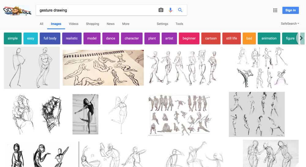 gesture drawing - google search