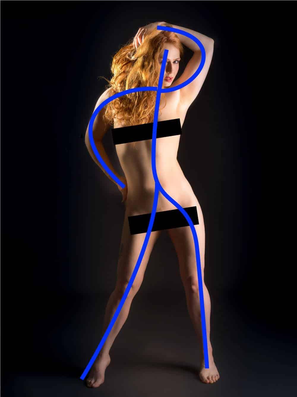 gesture drawing nude model