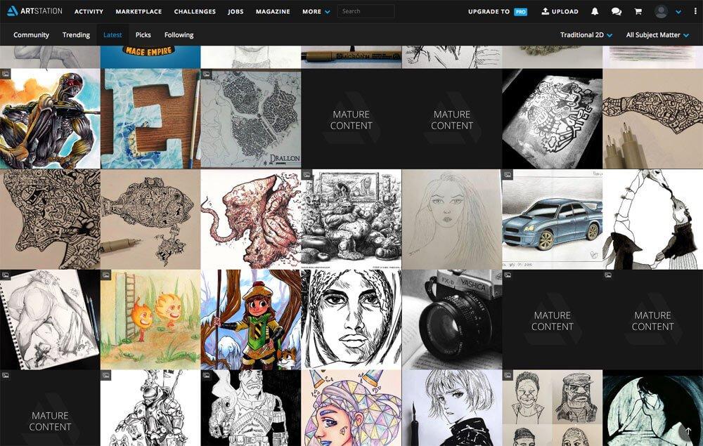 sites like deviantart - artstation
