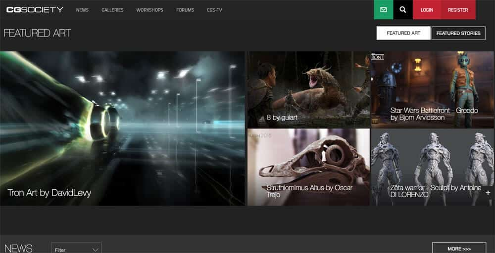 sites like deviantart - cgsociety