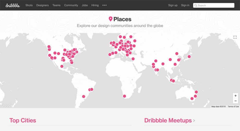 sites like deviantart - dribbble meetup