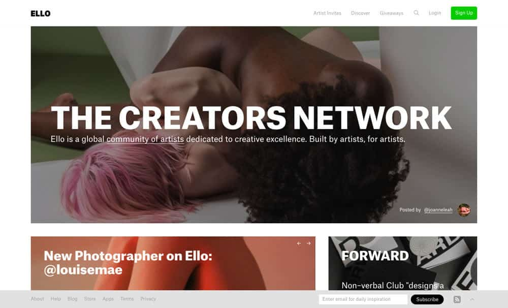 sites like deviantart - ello