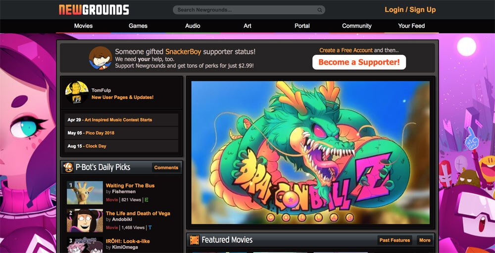sites like deviantart - newgrounds