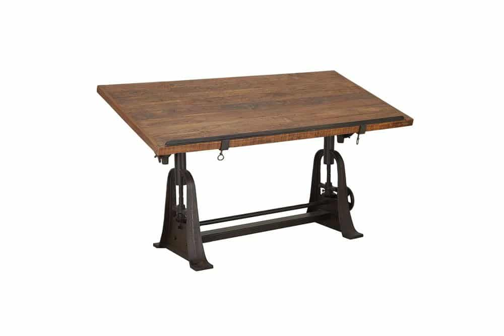 Rustic Rectangular Drafting Craft Table