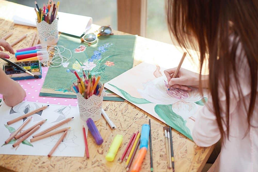 using pastel pencils